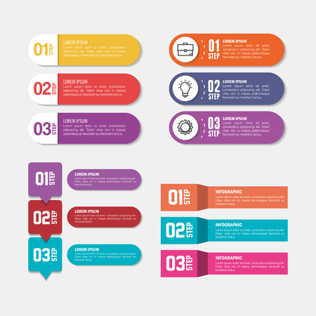 business infographic template icons vector illustration design Vettoriali