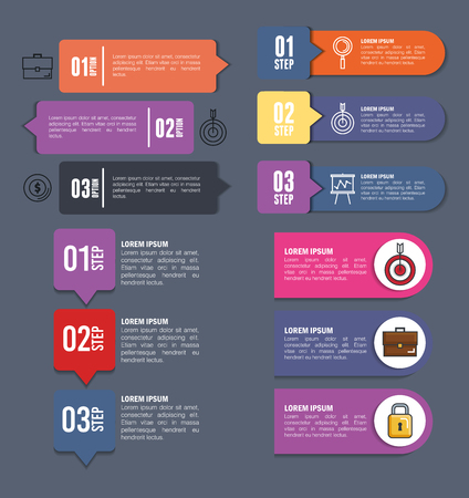 business infographic template icons vector illustration design 일러스트