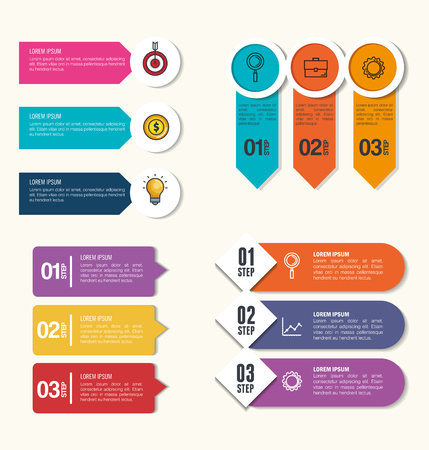 business infographic template icons vector illustration design  イラスト・ベクター素材