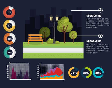 nature infographic template icons vector illustration design Illustration