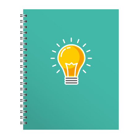 Stationery notebook for business cover design vector illustration Foto de archivo - 97560912