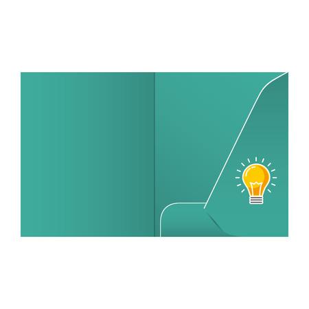 Folder template design for company element of stationery vector illustration.