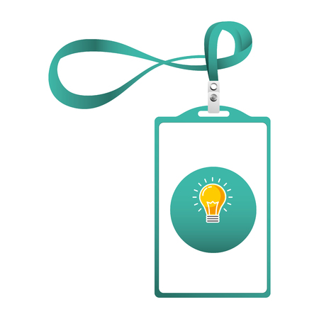 Identification card corporate office template vector illustration. 向量圖像