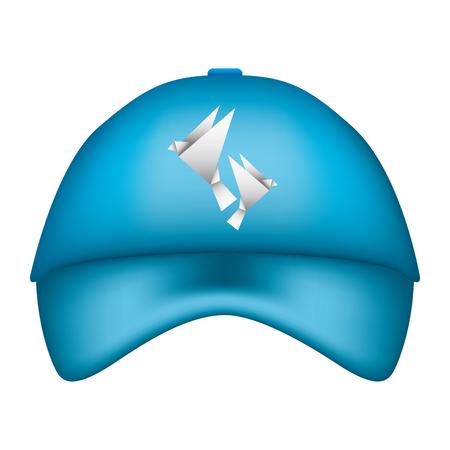 Promotional souvenir baseball cap identity corporate template vector illustration. Foto de archivo - 97249438