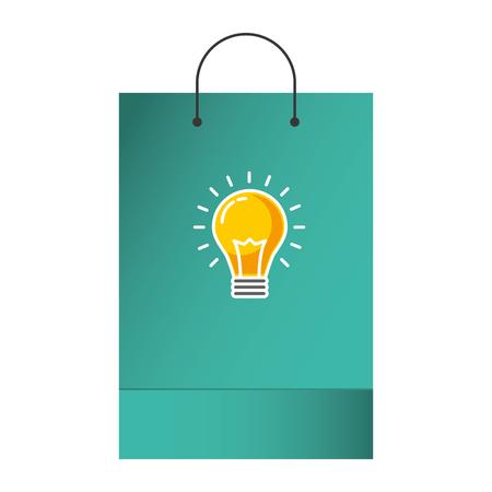 shopping bag template sample business stationery emblem vector illustration Illustration