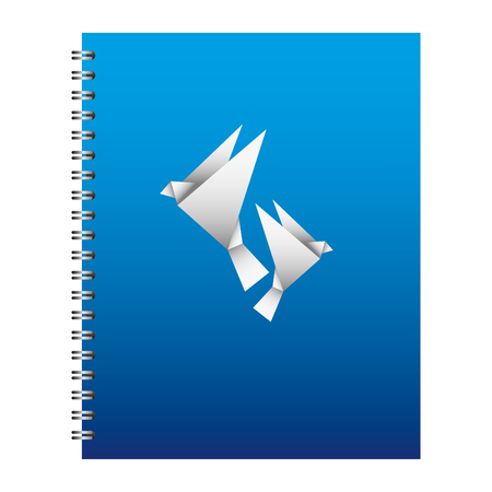 template stationery notebook office for business cover emblem design vector illustration Illustration