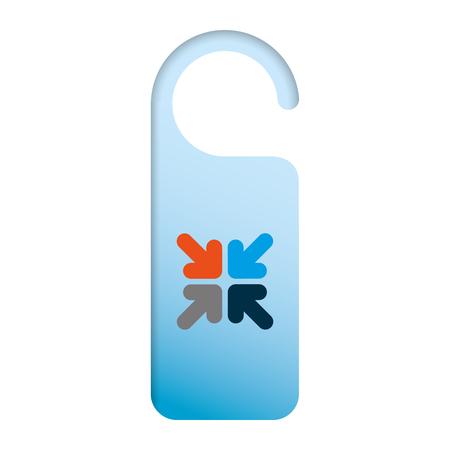 door knob do not disturb hanger corporate template vector illustration  イラスト・ベクター素材