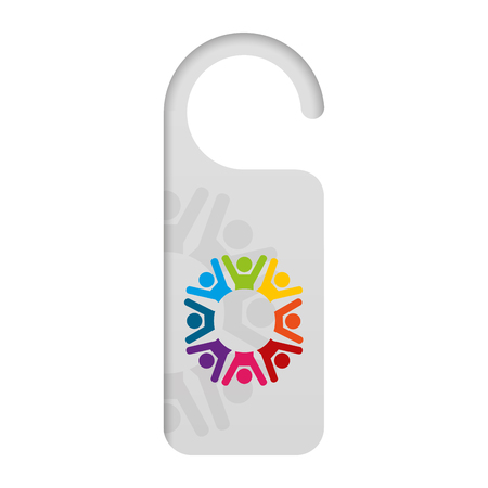 door knob do not disturb hanger corporate template vector illustration Иллюстрация