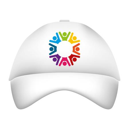promotional souvenir baseball cap identity corporate  template vector illustration