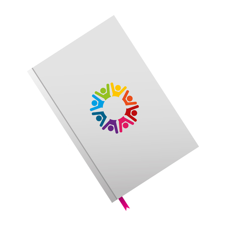 Notepad diary and bookmark template Ilustrace