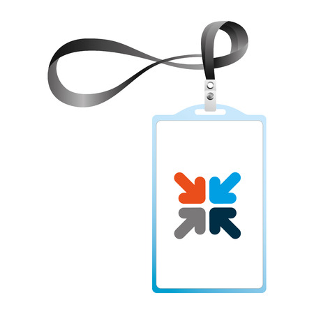 identification card corporate office  template vector illustration