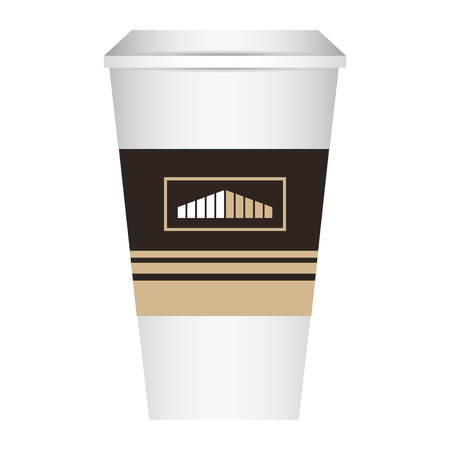 coffee paper cup template  corporate identity design vector illustration