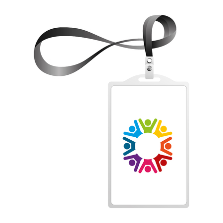 identification card corporate office  template vector illustration