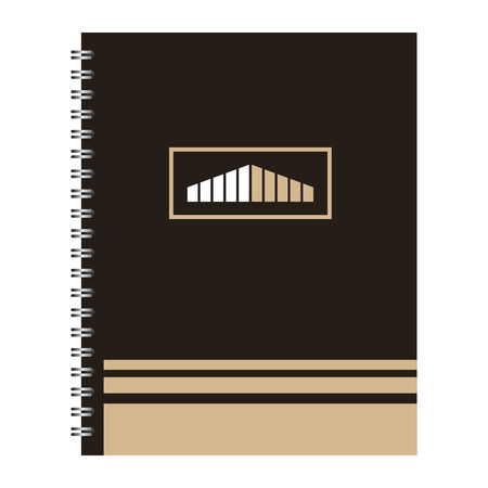 template stationery notebook office for business cover emblem design vector illustration Illustration