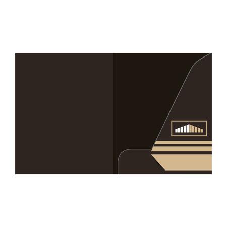 folder template design for company element of stationery vector illustration Illusztráció