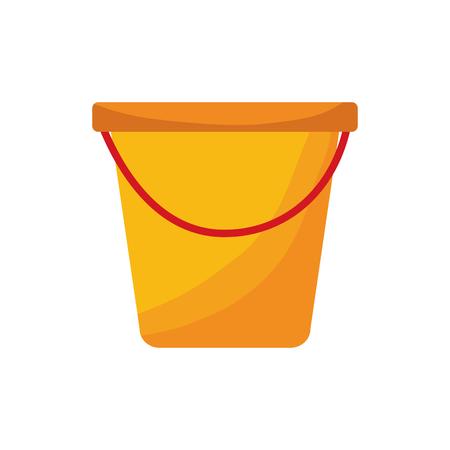 plastic bucket container handle tool vector illustration