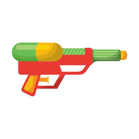 waterpistool schieten splash speelgoed plastic vector illustratie