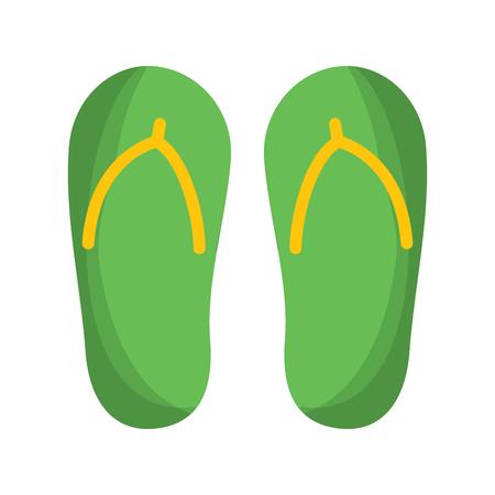 flip flop footwear rubber accessory vector illustration Illustration