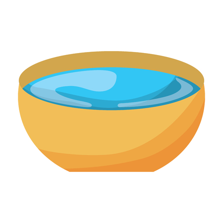 bowl water fresh liquid clean icon vector illustration