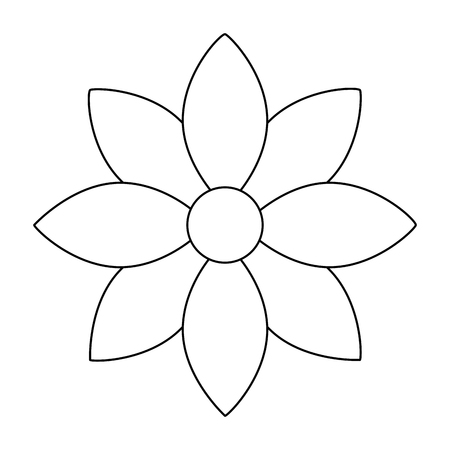 flower jasmine ornament decoration delicate vector illustration outline image Illustration