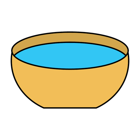 bowl water fresh liquid clean icon vector illustration