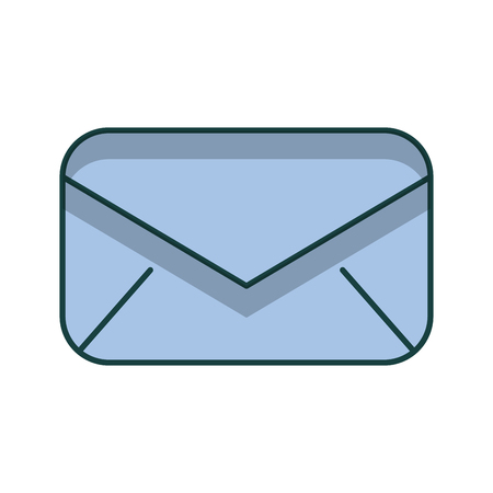 envelope mail isolated icon vector illustration design Ilustrace