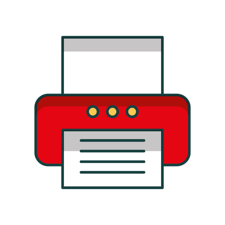 office printer isolated icon vector illustration design Çizim