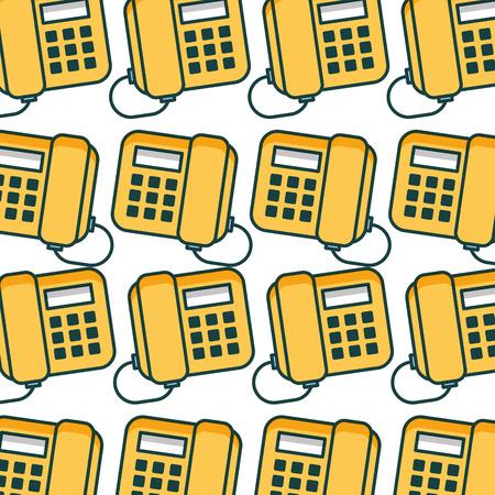 office telephone pattern background vector illustration design