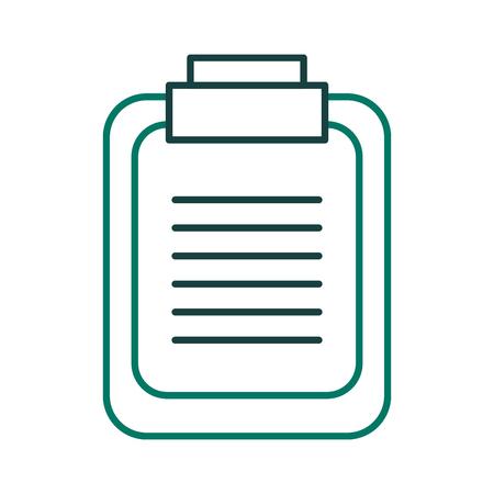 Paper clipboard icon