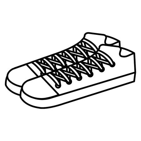 Shoes icon vector illustration design Çizim