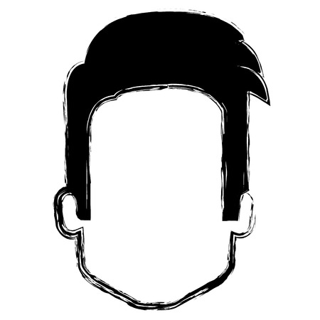 young man head avatar character vector illustration design Reklamní fotografie - 97230177