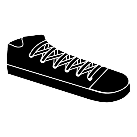 shoe young style icon vector illustration design