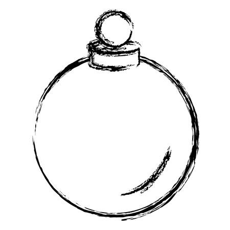 boule de noël icône décorative illustration vectorielle conception