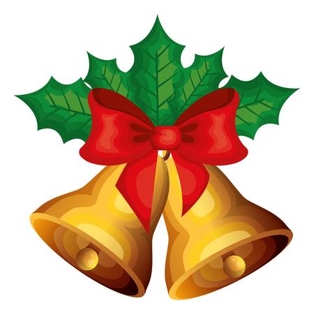 christmas bell decorative icon vector illustration design Stock Vector - 97234373