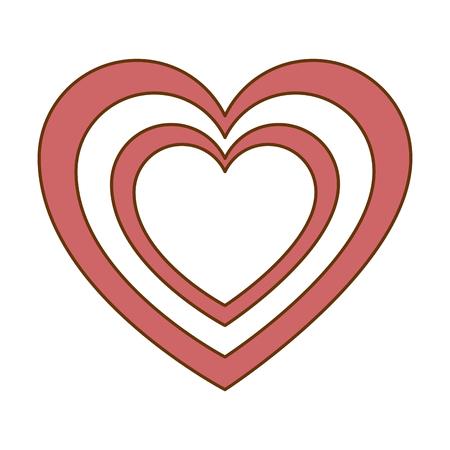心臓心臓病孤立アイコンベクターイラストデザイン  イラスト・ベクター素材
