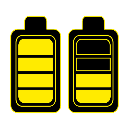 battery levels power icon vector illustration design  イラスト・ベクター素材
