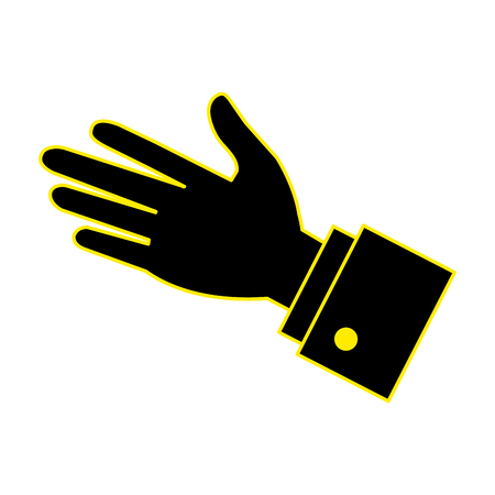 hand human palm icon vector illustration design