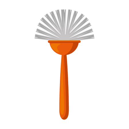 sanitary brush isolated icon vector illustration design Illustration