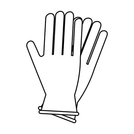 クリーン手袋隔離されたアイコンベクトルのイラストの設計