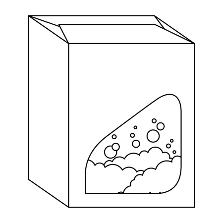 powder detergent box product vector illustration design Çizim