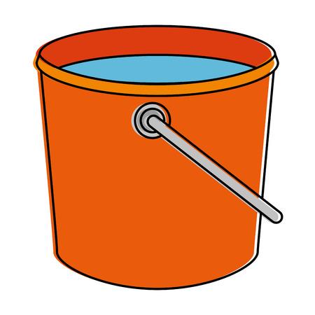 plastic bucket isolated icon vector illustration design