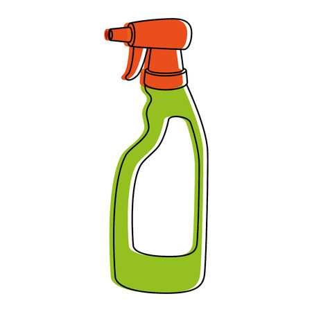 Household cleaning product spray bottle vector illustration design