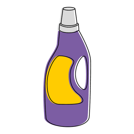 Household cleaning product bottle vector illustration design