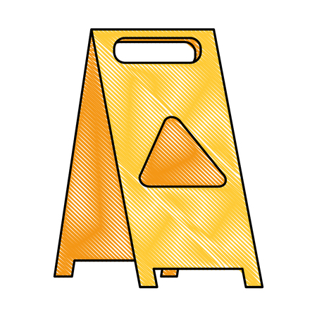 slippery floor sign icon vector illustration design