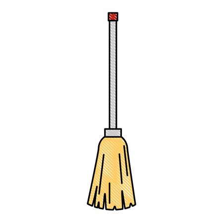 clean mop isolated icon vector illustration design Ilustração