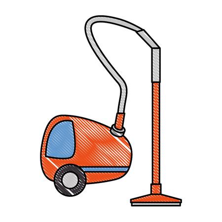 Vacuum cleaner isolated icon vector illustration design Illustration