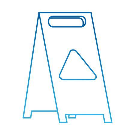 slippery floor sign icon vector illustration design