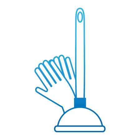sanitary suction suck with gloves vector illustration design Illustration