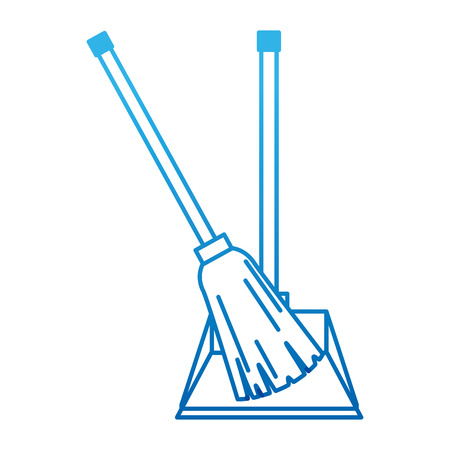 garbage picker with broom vector illustration design Archivio Fotografico - 97266643