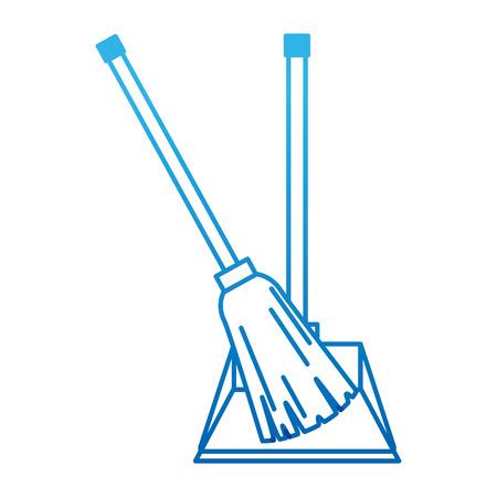 garbage picker with broom vector illustration design Vectores